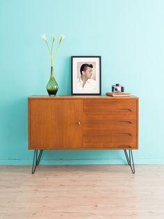 vintage kommoden teak sideboard kommode 60er jahre. Black Bedroom Furniture Sets. Home Design Ideas