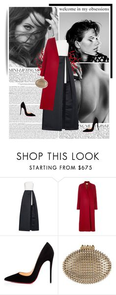 """""""shadow hunter."""" by eve-angermayer ❤ liked on Polyvore featuring GET LOST, Halston Heritage, Forte Forte and Christian Louboutin"""