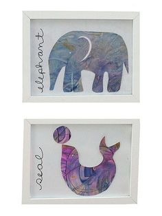 How to make Eric Carle-inspired artwork from your kids' finger- and water-color paintings. Great idea from @sarahjanestudios