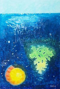 青い海の記憶 と 追憶。|絵を描く人ciel.w(しえる。) のふんわり ほんわり キラキラ ブログ♪