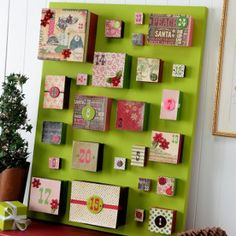 Great Idea - Sensational DIY Advent Calendar! | FaveCrafts.com