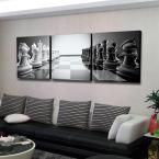 """24 in. x 72 in. """"Chess"""" Printed Wall Art"""