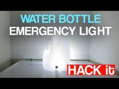 Emergency Light Water Bottle
