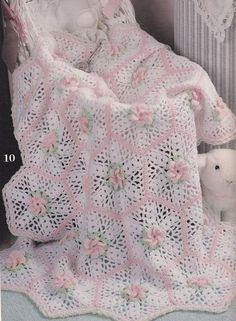 Baby Afghan Crochet Patterns Lacy Lullabies 10 by PaperButtercup