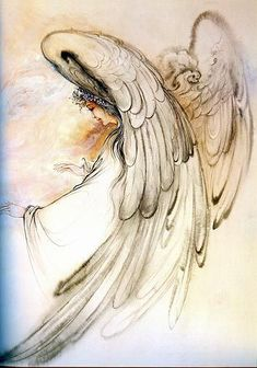 May - Moon conjunct Jupiter in Gemini: 'Today Jupiter and the Moon join han. - May – Moon conjunct Jupiter in Gemini: 'Today Jupiter and the Moon join hands in Gemini, e - Angel Drawing, I Believe In Angels, Ange Demon, Angel Pictures, Angels Among Us, Guardian Angels, Angel Art, Belle Photo, Art Drawings