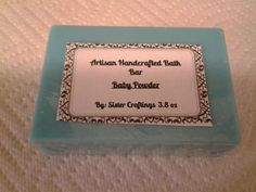 Baby Powder Soap by SisterCraftings on Etsy