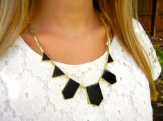 The Kelly Midnight Black Resin Pyramid Necklace   by PlumbGlad, $14.99