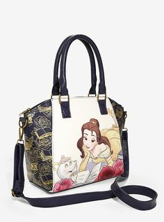 Loungefly Disney Beauty And The Beast Belle Reading Satchel Handbags Purse