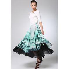 Maxi Chiffon Skirt Print Women Skirt Long Skirt (1236) ($79) ❤ liked on Polyvore featuring skirts, grey, women's clothing, maxi skirts, long grey skirt, gray maxi skirt, long chiffon skirt and print maxi skirt