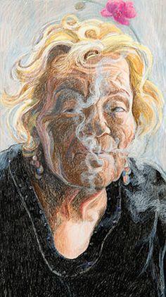 Barbara Gatti Cocci - Titolo - La Daria - pastelli olio e pietre dure su tavola - cm 40 x 80 - anno 2011