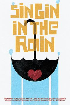 Singin in the Rain: publicity poster redesigned