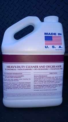 1 GAL HEAVY-DUTY CLEANER DEGREASER ~ Also Available in 6x1, 4x1, & 2x1 Bundles ~ Works on a molecular level for rapid removal of the most brutal dirt, filth, & grease within seconds. Phenomenal on motorcycle parts, industrial machinery, equipment, concrete, asphalt, etc. Corrosive brake dust has no chance with this product. All this, and rinses clean. Call 888-896-4827. Visit patriotchemicalcompany.com.