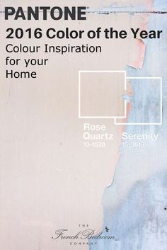 See how on the French Bedroom Company Blog we're giving tips on getting the Pantone Colours of the Year 2016 in your interior design. Rose Quartz Pink and Serenity Blue - perfect for your French Bedroom and home. Pink and blue room