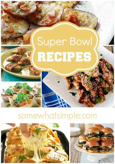 It's almost super bowl time! This is an awesome collection of recipes that will be perfect to serve at your super bowl party!