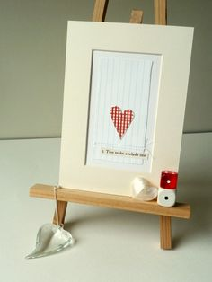 Stitched paper collage #heart #love