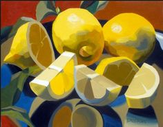 Zitronige Zitronen schön illustriert/gemalt