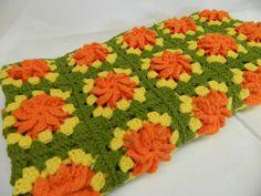 Vintage Handmade Crochet Granny Square Blanket by ProjectRetro, $13.00