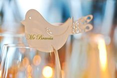 Beautiful idea for wedding placecards. Ana and Phil's Art Gallery Wedding #wedding #placecards #unique