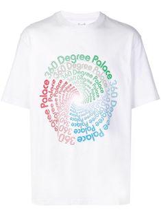 Palace 360 T-shirt - Farfetch New Sign, Brand You, White Cotton, Palace, Street Wear, Women Wear, Mens Tops, T Shirt, How To Wear