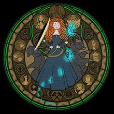 Merida-Brave Kingdom Hearts Princess in cross stitch. Chart created from the picture above. The second picture is a snapshot of the charts
