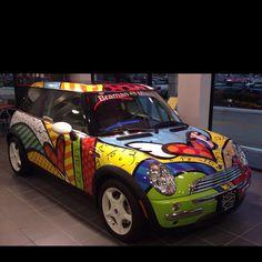 love this designer and the mini coop - MINI - Cars Yellow Mini Cooper, Mini Cooper S, Mini Cooper Custom, Mundo Hippie, Mini Driver, Family Car Decals, Morris Minor, Mini Clubman, Creative