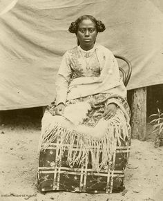 Portrait of a Betsimisaraka woman. circa 1890 Trips