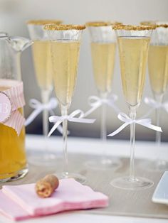 Dress up your champagne glasses for New Year's Eve by dipping rims in water + gold sugar sprinkles! http://www.hgtv.com/entertaining/host-a-sparkling-new-years-eve-party/pictures/page-13.html?soc=pinfave #PinFaves2012 @HGTV