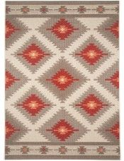 In- & Outdoor Teppich Star Kilim Rot