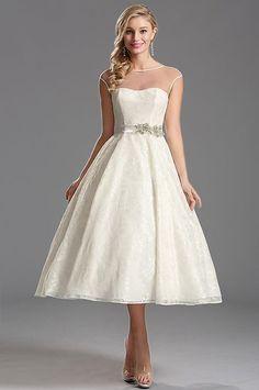 Biele vintage šaty S01327