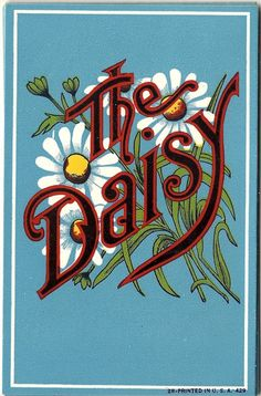 The Daisy Lithograph Broom Label, c1900s, 5 1/4 x 3 1/2   One of the most amazing examples of lithography and its huge influence on