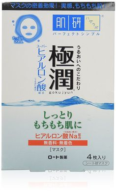 Rohto Hadarabo Gokujun Hyaluronic Face Mask 4 sheets * You can find more details by visiting the image link.