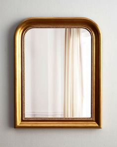 """Horchow Window ARCH LARGE 38"""" Wall Mantel BEDROOM BEADED SILVER/GOLD Mirror  #Modern"""