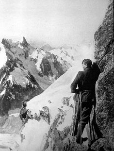 George Mallory havin' fun.  The first to summit Everest? I think so.