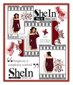 """Shein: Burgundy Dress"" by mandimwpink ❤ liked on Polyvore featuring dress"