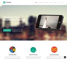 This flat WordPress theme comes with a responsive design, easy colour customisation, an Ajax gallery with jQuery animations and effects, social media integration, masonry layout support, and more.