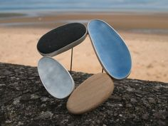 """GRACE GIRVAN-UK Jewellery """"By employing a restrained colour palette of soft greys, greens and blues, Grace   aims to convey a sense of calm, which she associates with the sea and shore.  """""""