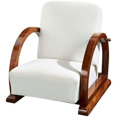 French Art Deco Armchair, circa 1920 | From a unique collection of antique and modern armchairs at http://www.1stdibs.com/furniture/seating/armchairs/