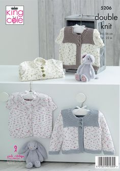 Baby Cardigan Knitting Pattern Free, Baby Knitting Patterns, Knitting Ideas, Baby Clothes Patterns, Baby Patterns, Crochet Bebe, Crochet Yarn, Knitted Baby Clothes, Baby Knits
