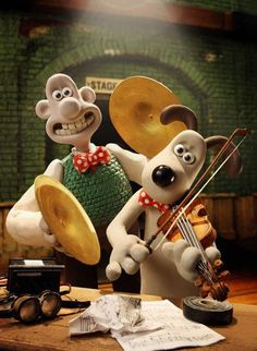 Wallace and Gromit!!!!!!!  Short movies, long movies, all clever, funny and brilliant!