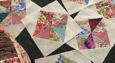 Scrappy Pinwheel in a Square part 2 Strip Quilts, Patch Quilt, Scrappy Quilts, Easy Quilts, Small Quilts, Quilt Blocks, Pinwheel Quilt Pattern, Scrap Quilt Patterns, Sewing Patterns
