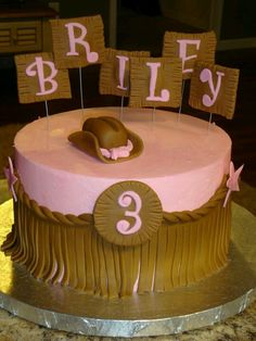 Cowgirl cake by cake chic