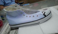 Witte schoenen pimpen