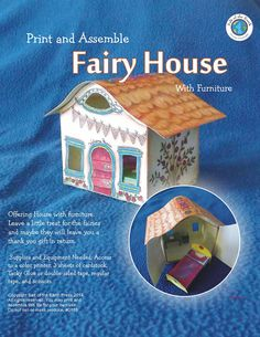 Instant Download  Printable Fairy House with by waiting4rain