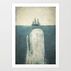 The White Whale Art Print by Terry Fan - $19.00