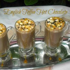 English Toffee Hot Chocolate ~ this drink will warm you up instantly ! #EnglishToffee #HotChocolate #Beverages