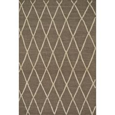 Handcrafted Lennon Taupe Wool Rug (5'0 x 7'6)