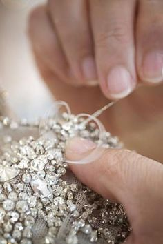 Haute Couture behind the scenes - the making of a dress, hand-embellished with Swarovski crystals - fashion atelier; dressmaking // Ralph & Russo
