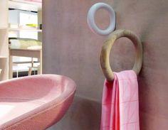 Staffan Holm A Detail Gym Hooks    Good idea for small bathrooms.
