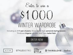 Win a $1,000 Winter Wardrobe  http://giveaways.sharesomestyle.com/giveaways/win-a-1000-winter-wardrobe/?lucky=2361