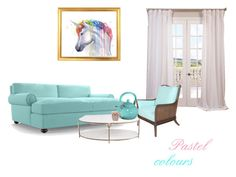 """""""Pastel colors"""" by michalka-1 on Polyvore featuring interior, interiors, interior design, home, home decor, interior decorating, EFF, David Francis Furniture, Global Views and Reston Lloyd"""